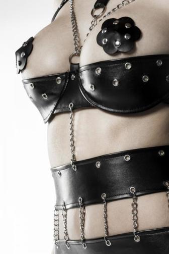 3-teiliges Ketten-Body-Set von Grey Velvet